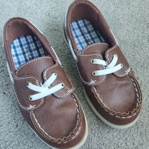 Carter's toddler boat dress up shoes Brown